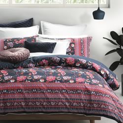 Davina Navy Quilt Cover Set
