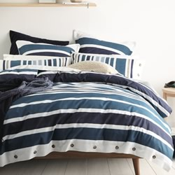 Hunter Navy Quilt Cover Set