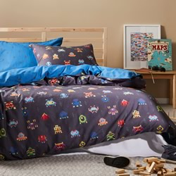 Space Invaders Quilt Cover Set