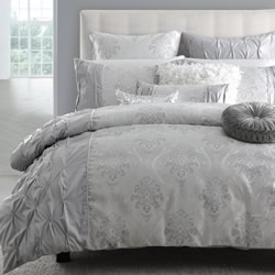 Lena Silver Quilt Cover Set