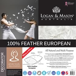 100% Feather Euro Pillow