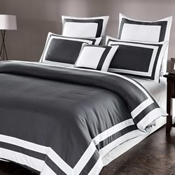 Bailey Striped Grey Quilt Cover Set