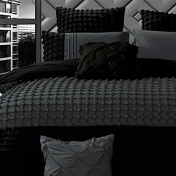 Cossette Grey Quilt Cover Set