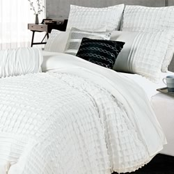 Cossette White Quilt Cover Set