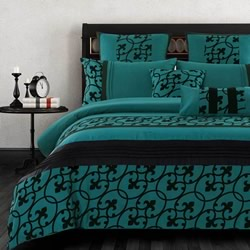 Halsey Teal Blue Quilt Cover Set