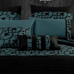 Lyde Black Teal European Pillowcase
