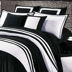 5a36575f098 Rossier Black Quilt Cover Set