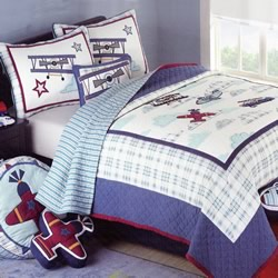 Airplane Coverlet Set
