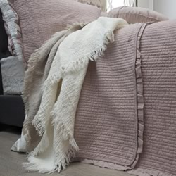 Audrey Cotton Blush Pink Coverlet Set