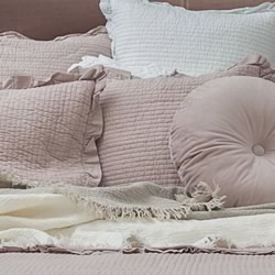 Audrey Cotton Blush Pink Cushions