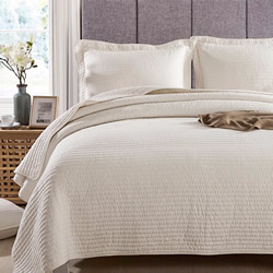 Audrey Off White Coverlet Set