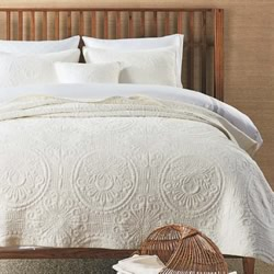 Baroque Off White Coverlet Set