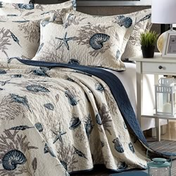Coastal Elegance Cotton Coverlet Set