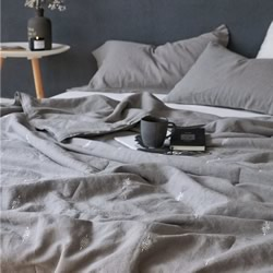 Copenhagen Grey French Linen Comforter Set