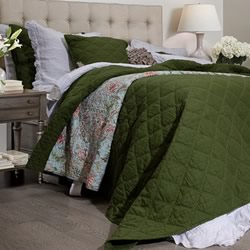 Arabella Olive Green Coverlet