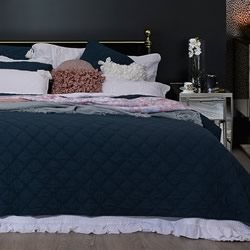 Arabella Petrol Blue Coverlet
