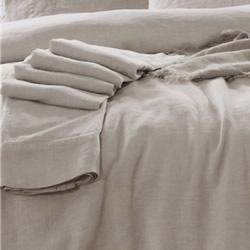 French Linen Natural Sheet Set