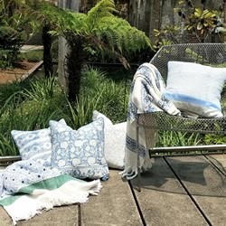 Adaline Garden Hand Block Feather Filled Cushions
