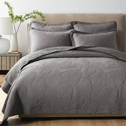 Nadia Charcoal Cotton Coverlet Set