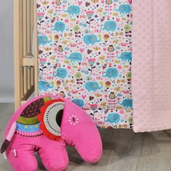 A Cosy Minky Cot Quilt ABBEY ELEPHANT