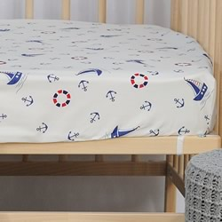 Anchor Cot Fitted Sheet