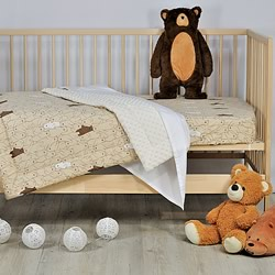 Barry Bear Cotton Minky Cot Quilt