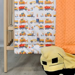 Construction Minky Cot Quilt