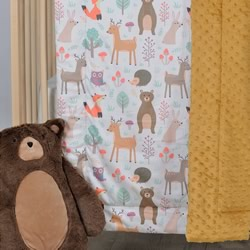 A Cosy Minky Cot Quilt IN THE WOODS