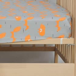 Mr Fox Cot Fitted Sheet