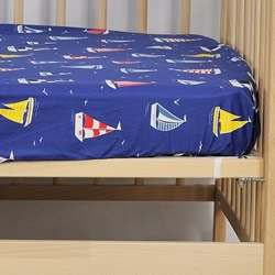 Sail Away Cot Fitted Sheet