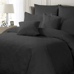 Ashton Charcoal Quilt Cover Set