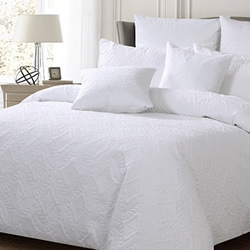 Ashton White Quilt Cover Set