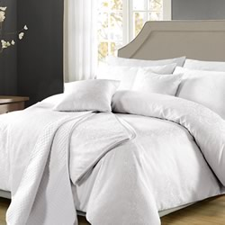 Celeste White Quilt Cover Set