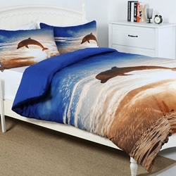 Dolphin Sunset Quilt Cover Set