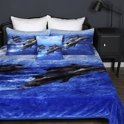 Dolphins Mink Blankets