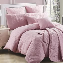 Marguerite Dusty Pink Quilt Cover Set