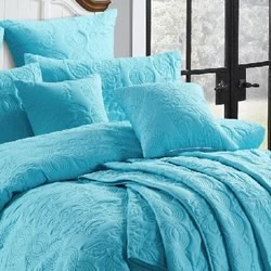 Marguerite Peacock Blue Euro Pillowcase