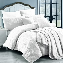 Marguerite White Quilt Cover Set