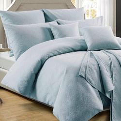 Zeus Powder Blue Quilt Cover Set