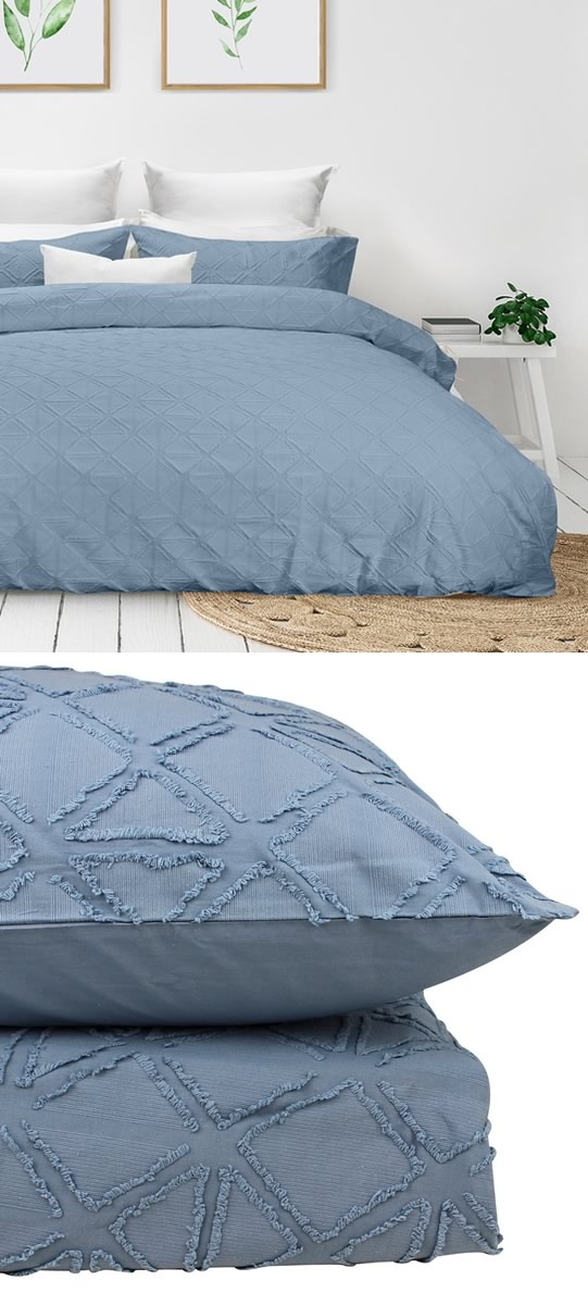 Avalon Coast Textured Quilt Cover Set