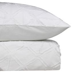 Avalon White Quilt Cover Set