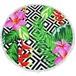 Tropica Round Beach Towel