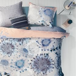Oilily Sunflowers Blue Quilt Cover Set