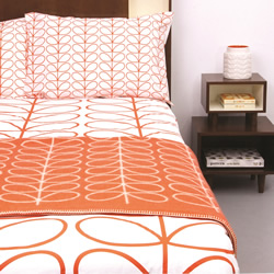 Linear Stem Persimmon Quilt Cover Set