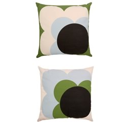 Single Big Spot Shadow Flower Grass Green Cushion