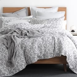 Avery Pewter Quilt Cover Set