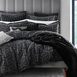 Bellamy Charcoal Quilt Cover Set