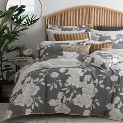 Cali Silver Quilt Cover Set