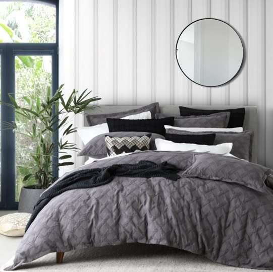 Chiswick Charcoal Bed Linen By Private Collection Cottonbox
