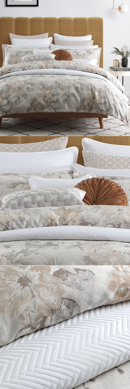 Hariette Champagne Quilt Cover Set